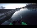 80км в час на ледянке по реке
