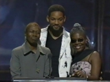 Will Smith introduces Afeni Shakur and Voletta Wallace at the