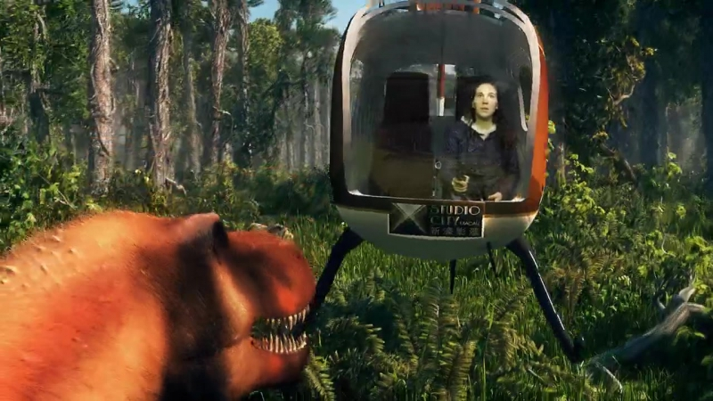 The dinosaurs hunt (Охота на динозавров)
