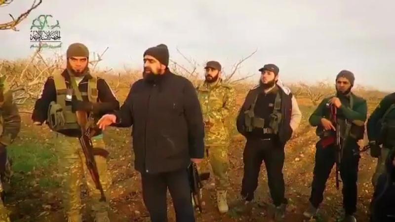 Лидер Ахрар аш Шам Хасан Суфван со своими бойцами на фронтах юга пр Идлиб