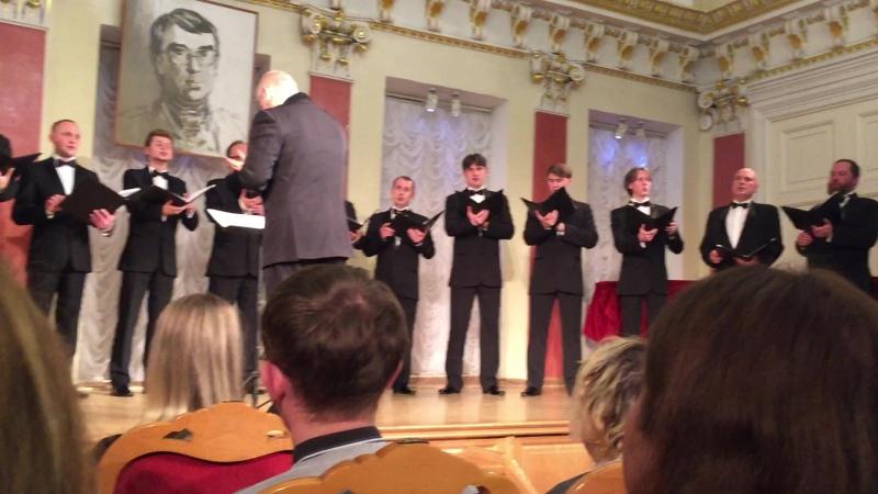 Вологодский мужской хор исполняет композицию Георгия Свиридова на стихи Игоря Северянина