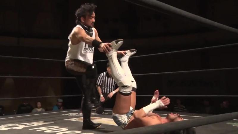 Shuichiro Katsumura Keisuke Okuda vs Yumeto Imanari Shuhei Washida Ganbare Wrestling Youre My Sunshine 2018