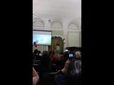 Наша милашка выступает на мисс общежития))