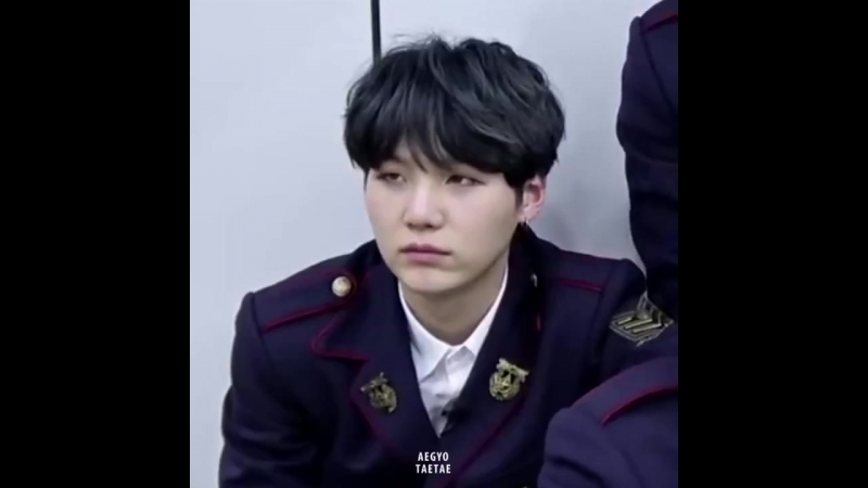 When yoongi was attacked by taehyung's deep voice.