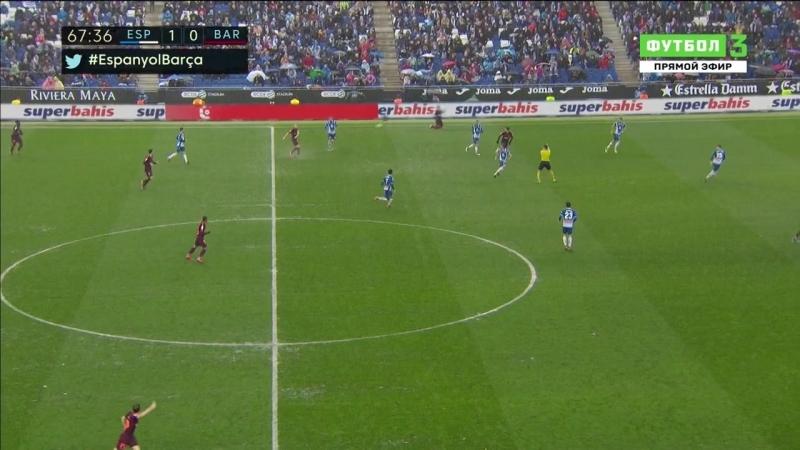 Чемпионат Испании 2017-18 Primera Division 22-й тур Эспаньол - Барселона 2 тайм [720, HD]
