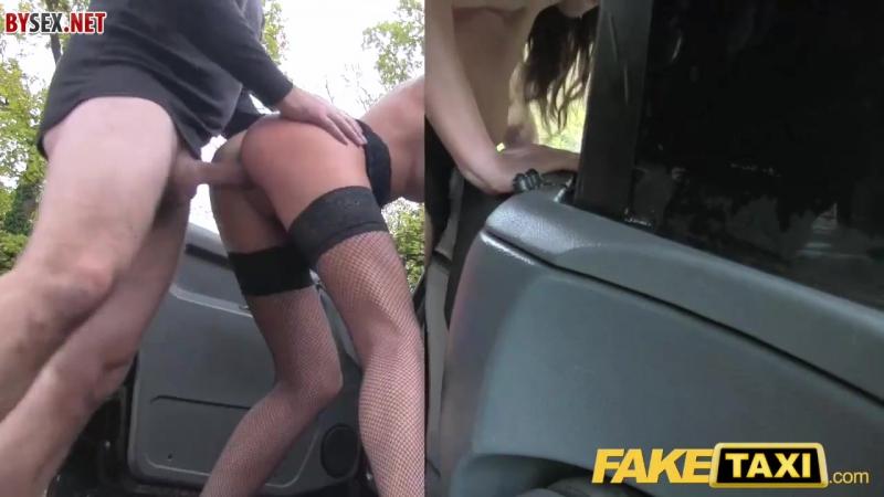 грудастая шлюха расплачивается натурой с таксистом