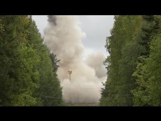 Пуск МБР РС-24 «Ярс» на государственном испытательном космодроме «Плесецк»