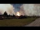 Пожар за Лозовским кладбищем Донецк 16 08 2017
