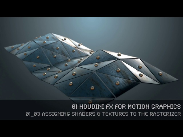Houdini MoGraph Rasterizer 01 03 - Assigning Shaders Textures to the rasterizer