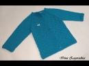 Кофта узором звёздочки-вязание спицами. Ч.1. Вяжем кофту для детей.