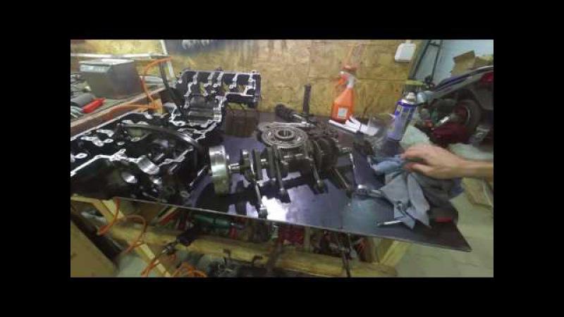 Бложек №75 Yamaha FZS600 Дефиктовка сцепления Осмотр коленвала вкладышей головы