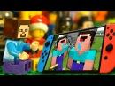 Лего НУБик ГЕЙМЕР Мультфильмы Майнкрафт Все Серии Подряд LEGO Minecraft Stop Motion Animation