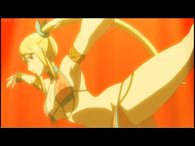 Fairy tail Dragon Cry Lucy's Seducing Dance