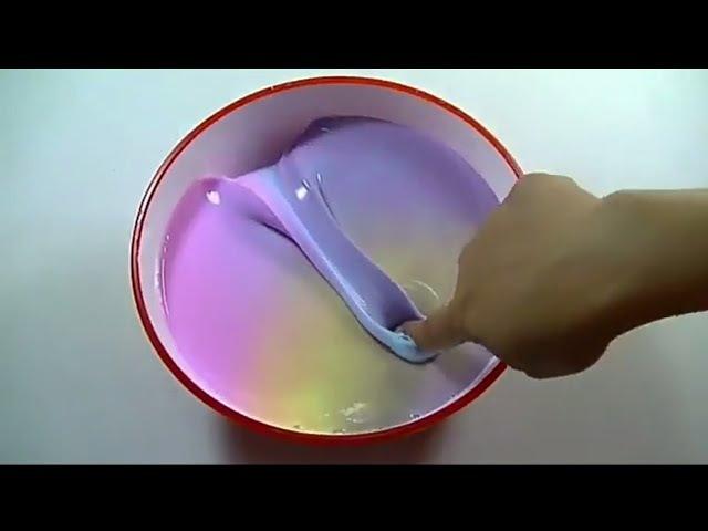 DIY- Как сделать Разноцветный Glossy Slime?😍💕Переведённый рецепт
