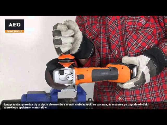 Test akumulatorowej szlifierki kątowej AEG BEWS 18-125X