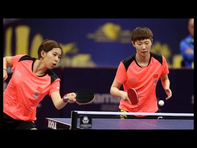 CHEN Ke /WANG Manyu vs CHEN Xingtong /SUN Yingsha | WD Finals | Qatar Open 2018