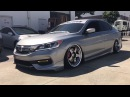 2015 2016 Honda Accord Sport Sedan On Airlift Air Suspension SSR SP1 Wheels And More!