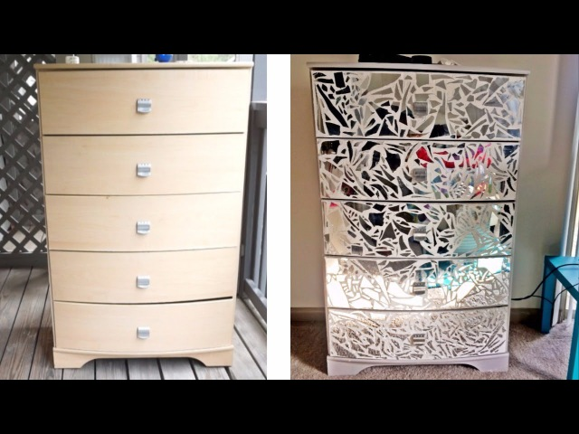 DIY Mirrored Dresser Night Stands!