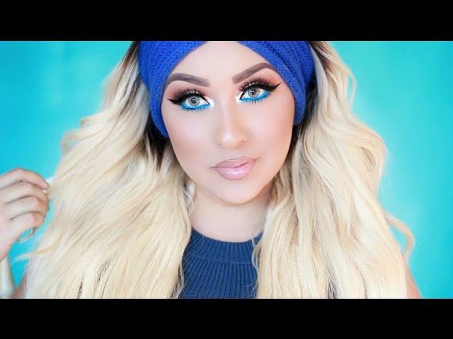 EASY Golden Eyes Blue Eyeliner Makeup Tutorial SUPER REQUESTED
