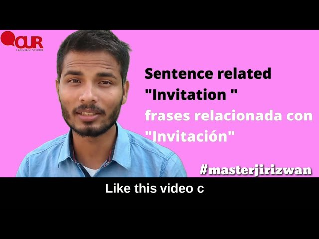 How to give invitation in Hindi learn with native Hindi speaker Rizwan Khan.