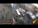 Автобус въехал в остановку в Москве возле метро Сходненская