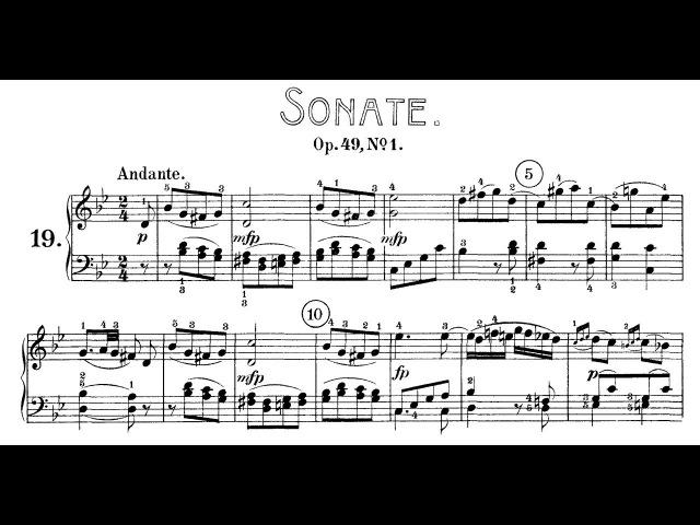 Ludwig van Beethoven - Piano sonata №19 in g-moll, Op.49 №1