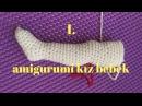 1.video Amigurumi Barbie Bebek Ayak Yapımı - Başlangıc Detaylı Anlatım  CROCHET Amigurumi Tutorial