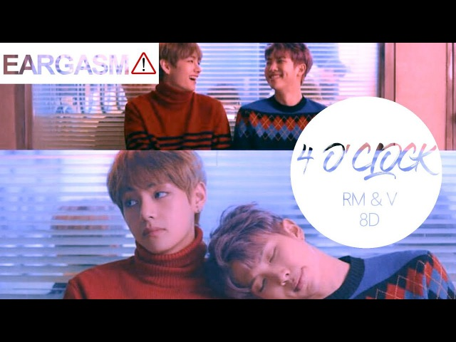 BTS V Rap Monster - 4 O'Clock (네시) [8D USE HEADPHONE] 🎧