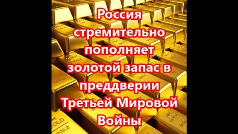 Россия стремительно пополняет золотой запас в предвери ТРЕТЬЕЙ МИРОВОЙ ВОЙНЫи
