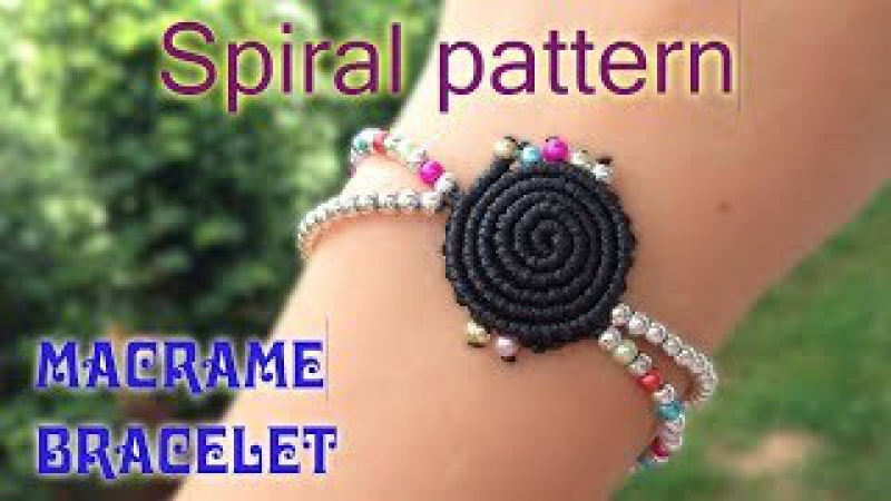 Macrame tutorial - The Simple spiral pattern bracelet - Step by step guide by Tita