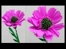 How to make Paper Flowers Pincushion Flower \ Scabiosa (flower 192)