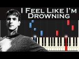 Two Feet - I Feel Like I'm Drowning  Piano Tutorial + MIDI