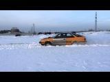 Power Subaru Leone 138 shown in the snow
