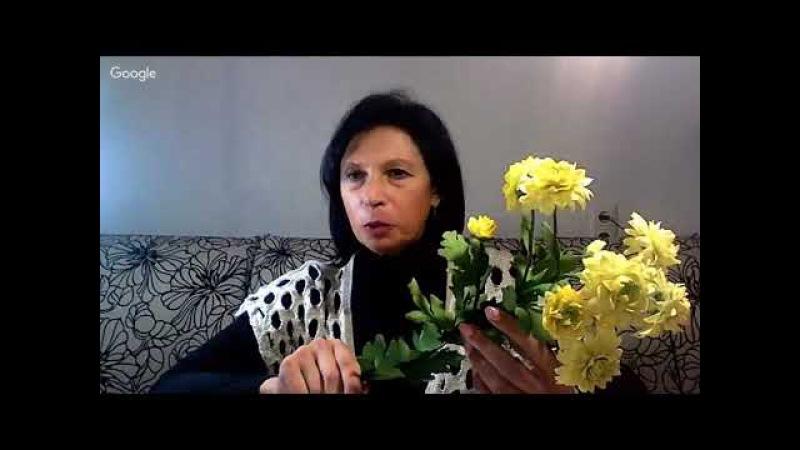 Семанова Елена_Кустовая хризантема из фоамирана