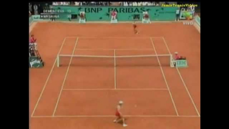 Elena Dementieva vs Anastasia Myskina FO 2004 Highlights
