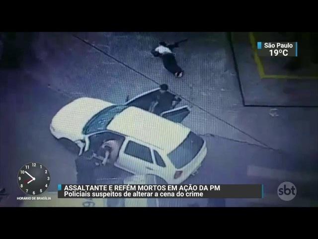 PMs são suspeitos de alterar cena de crime para forjar tiroteio   SBT Brasil (28/11/17)