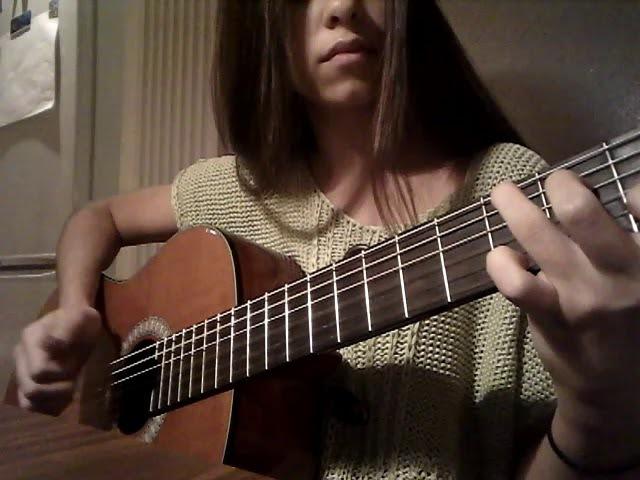 Despacito solo cover on a classical guitar Rebekka 14 years 05.11.17