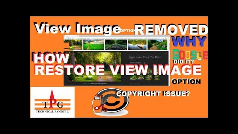 How to fix View Image option which removed by google from search engine in Hindi