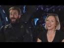 'Avengers Infinity War' Scarlett Johansson and Chris Evans FULL INTERVIEW