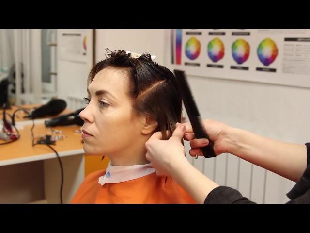 Боб Каре | Стрижка и Укладка| Школа Красоты Adele Studio