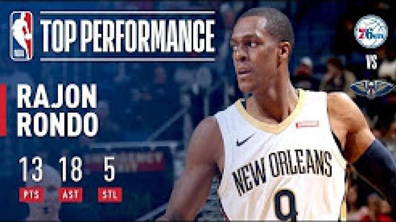Rajon Rondo Dishes 18 Assists in Win vs 76ers December 10 2017 18 NBA Season смотреть онлайн без регистрации