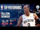 Rajon Rondo Dishes 18 Assists in Win vs 76ers December 10 2017 18 NBA Season
