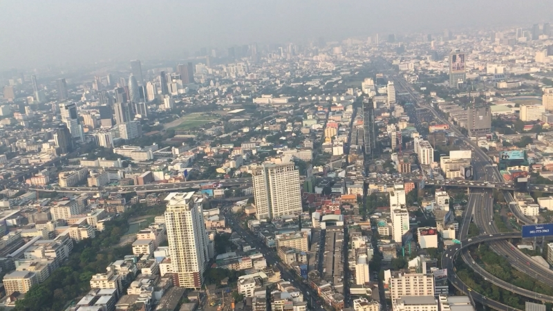 Вид на Бангкок с 83-го этажа