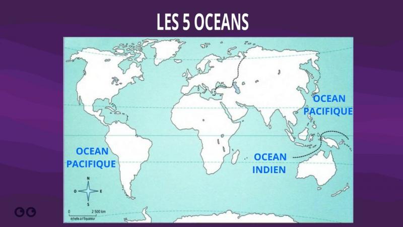 Géographie - Les océans et les continents de la planète