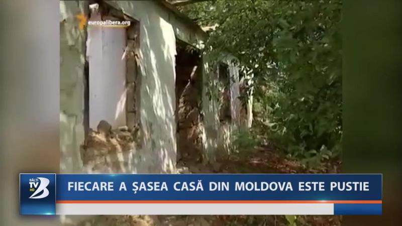 FIECARE A ȘASEA CASĂ DIN MOLDOVA ESTE PUSTIE