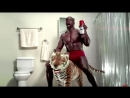 Реклама Олд Спайс Блокатор Запаха Терри Крюс на тигре