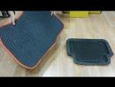 Автоковрики EVA cравнение с резиновым ковриком