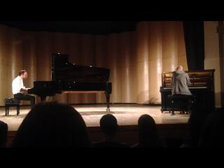 Luke Howard and Julien Marchal back to back improvisation