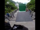Самый большой в мире спуск для паркура