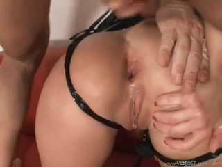 Dora venter is tied and used by many cocks making her hot
